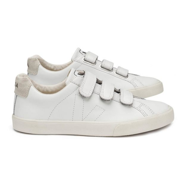 a1ca54b60fbf 3-Lock Leather Velcro Trainers White Veja Shoes Adult