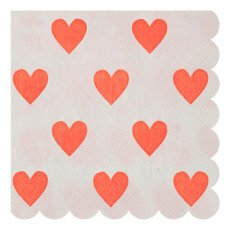 product-Meri Meri Heart Paper Napkins - Set of 20