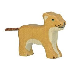 product-Holztiger Small Wooden Lion Figurine