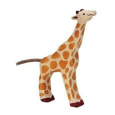 product-Holztiger Small Wooden Giraffe Figurine