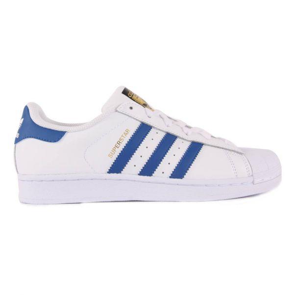 Baskets à Lacets Superstar Bleu Adidas Chaussure Adolescent , e96417c34ef2