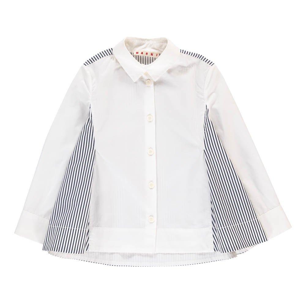 buy popular 0c646 59e6d Camicia Ampia Righe Bianco Marni Moda Teenager , Bambino
