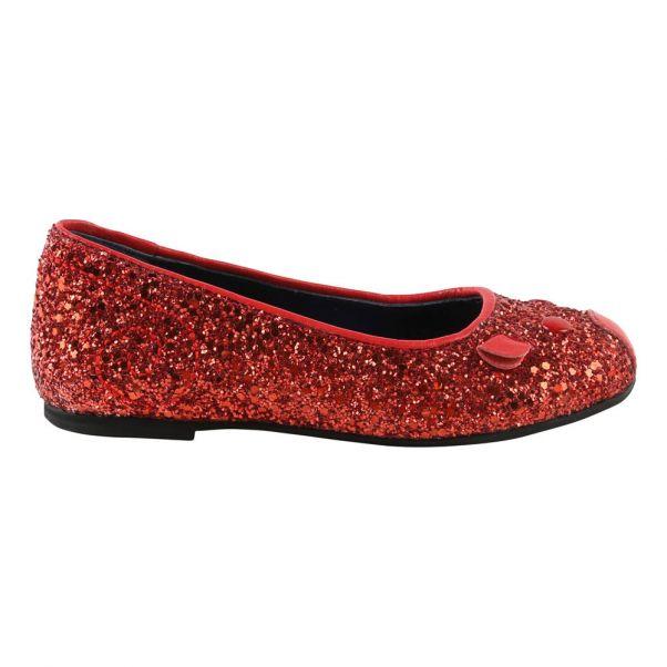 cbab68e3928c38 Ballerines Souris Pailletées Rouge Little Marc Jacobs Chaussure