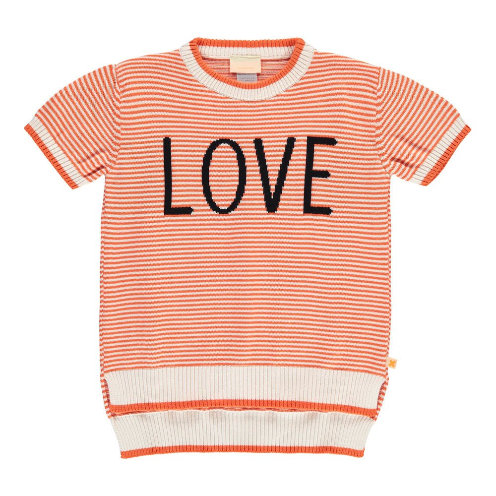 Tinycottons - Pull Love Rouge - Fille - Rouge