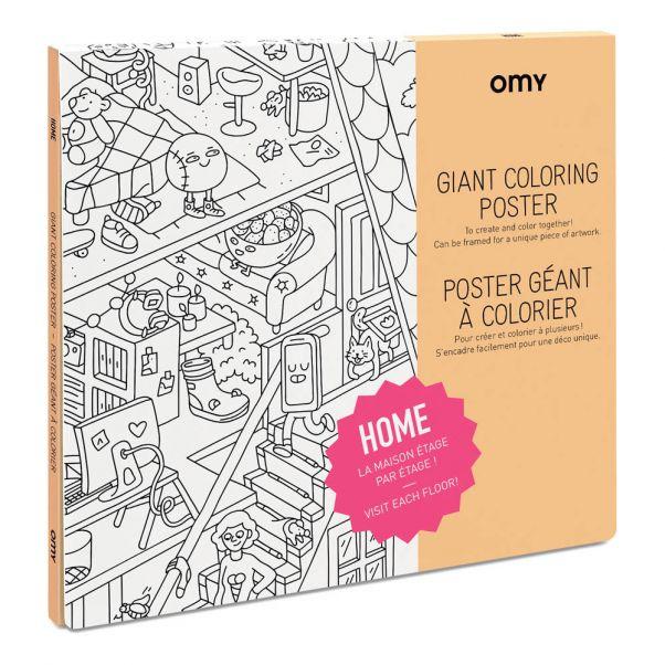 Póster gigante para colorear Home Blanco Omy Juguetes y Hobby