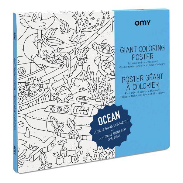 Póster gigante para colorear Océano Omy Juguetes y Hobby