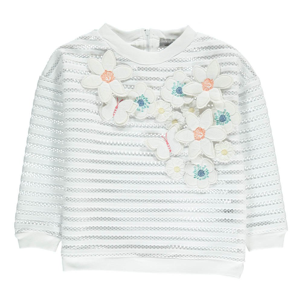 Sweatshirt Blumenstickerei Post 5079