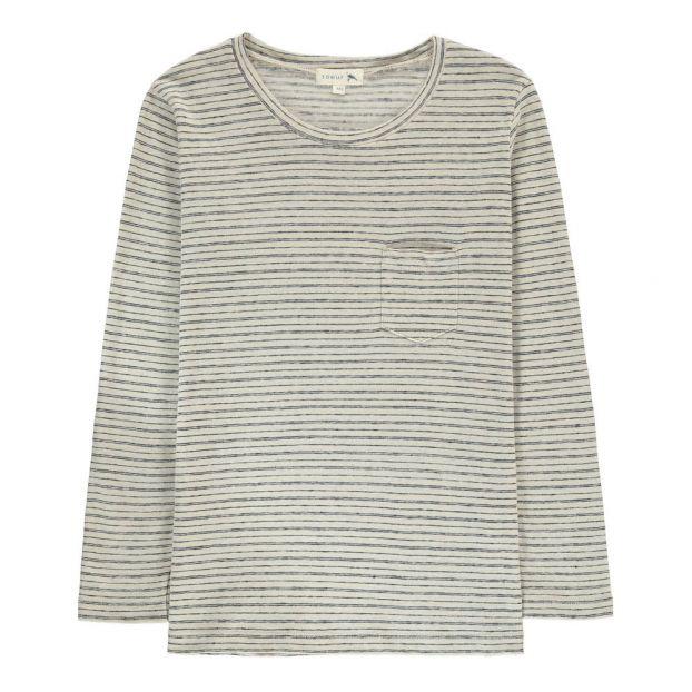 e82c32c6 Smile Striped T-Shirt Ecru Soeur Fashion Teen , Children , Adult