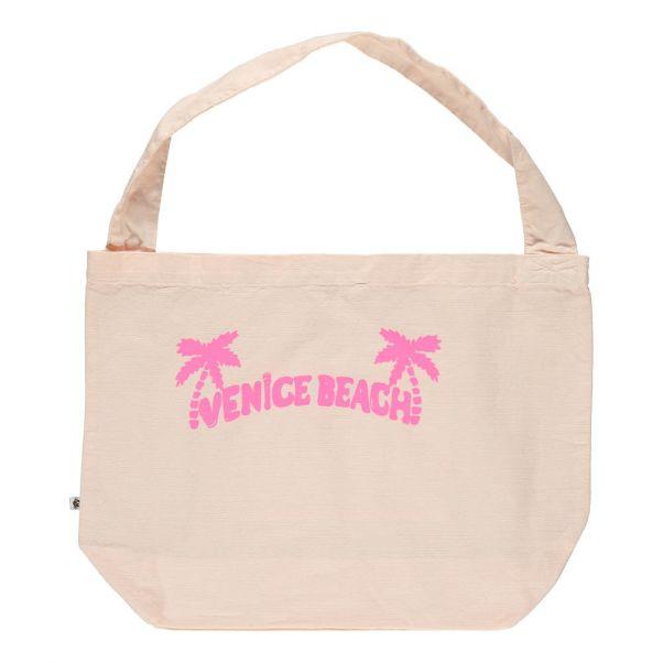 be9c40988419 Palm Tote Bag Powder pink Sunchild Fashion Teen