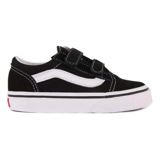 Old Skool V Velcro Trainers Black Vans Shoes Baby , Children