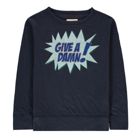 Sokaw Give A Damn Sweatshirt Midnight Blue Bellerose Fashion