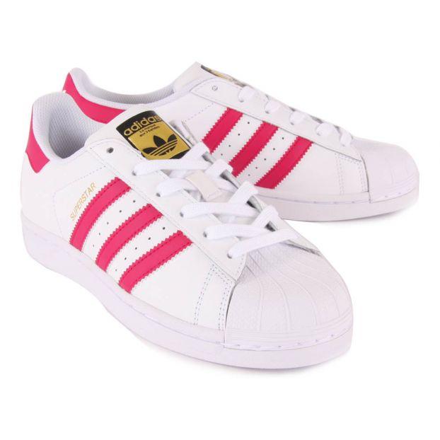 huge discount 51800 ebf94 Lederturnschuhe Superstar Rosa Adidas Schuh Teenager ...