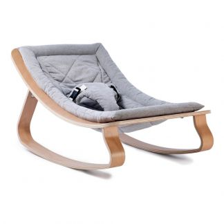 c2173b490 Levo Beech Wood Baby Bouncer Grey
