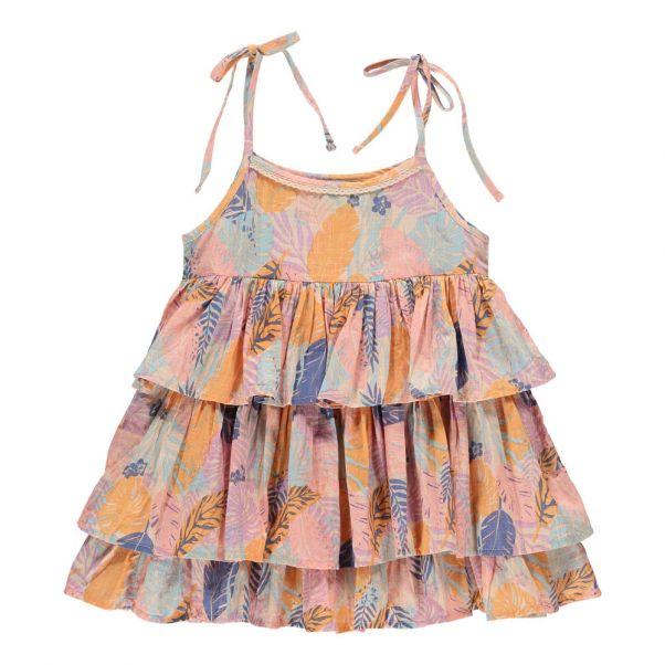 0b9759c46 Juliet Organic Cotton Tropical Dress Pink Lulaland Fashion