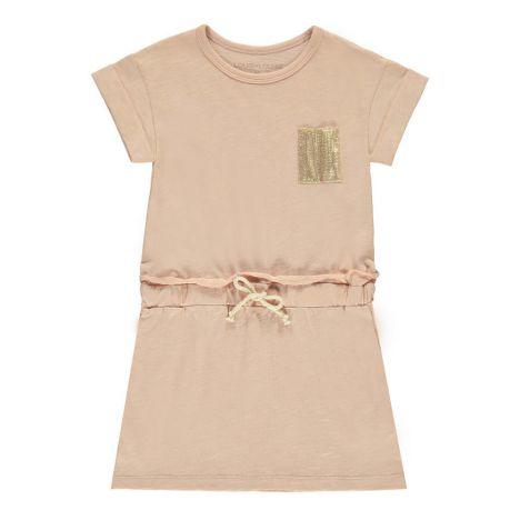 Kleid aus Jersey Sprint Pfirsichfarben Louis Louise Mode Kind ba1d76da5f