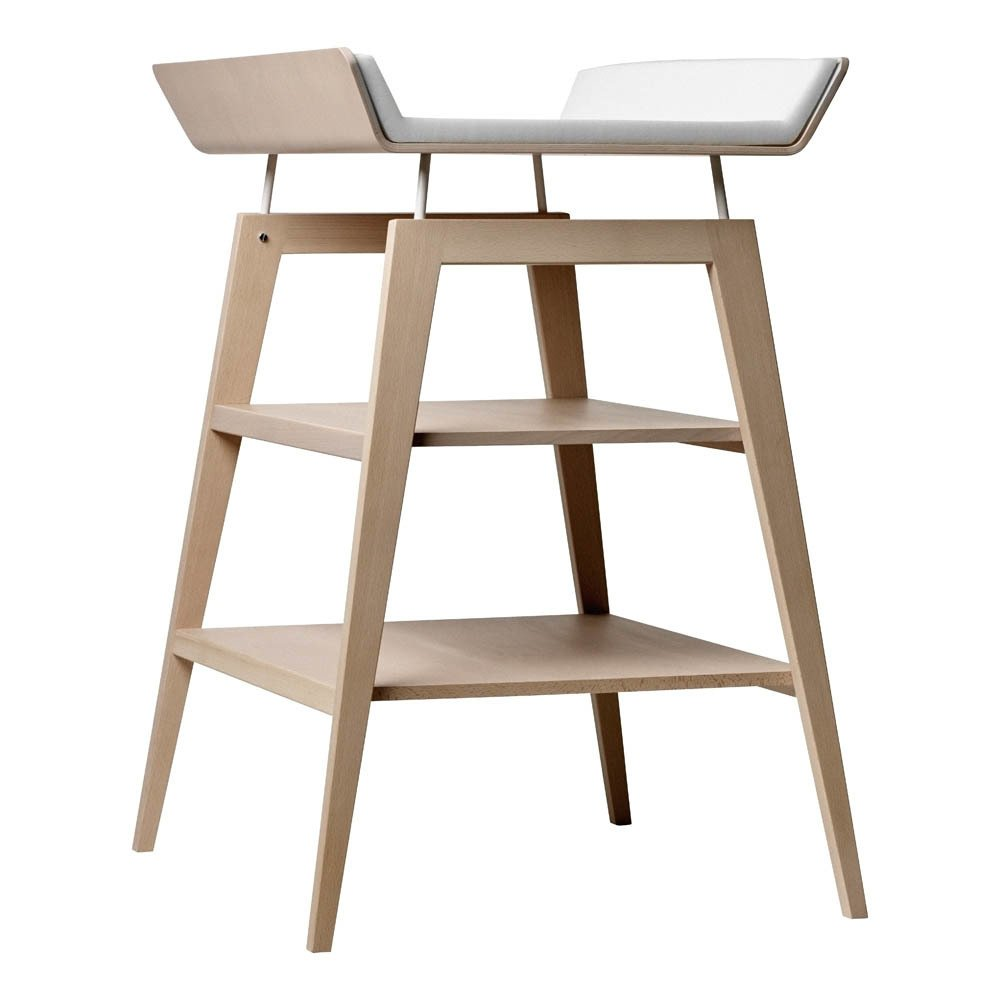 Linéa Baby Changing Table and Mattress Beech Leander Design Baby