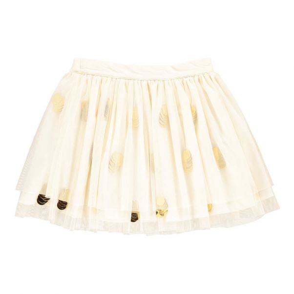 Jupon Tulle Sequins + Couronne Ecru Billieblush Mode Enfant c62e146feafc