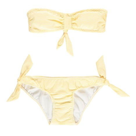 Caspienne Seersucker Bikini Yellow Cuisse De Grenouille Fashion