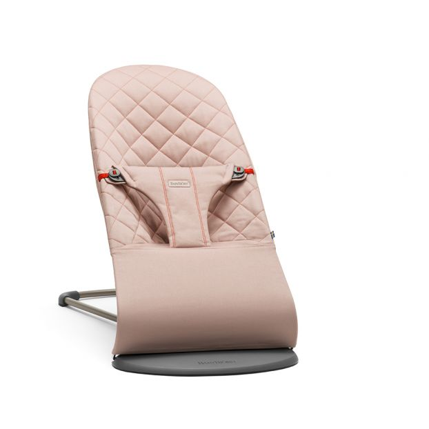 Peachy Bliss Quilted Cotton Baby Bouncer Dusty Pink Squirreltailoven Fun Painted Chair Ideas Images Squirreltailovenorg