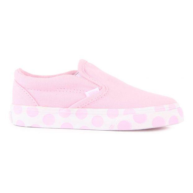 4fa17ca2e0 Slip-on Pois Classic Rose pâle Vans Chaussure Adolescent