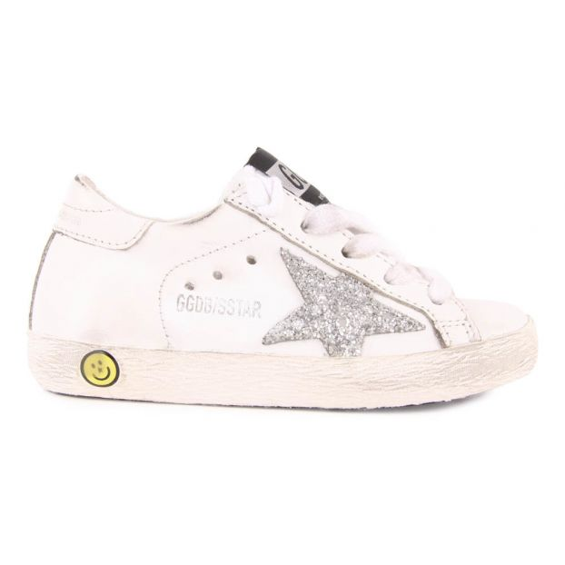 Superstar Glitter Star Lace-Up Leather