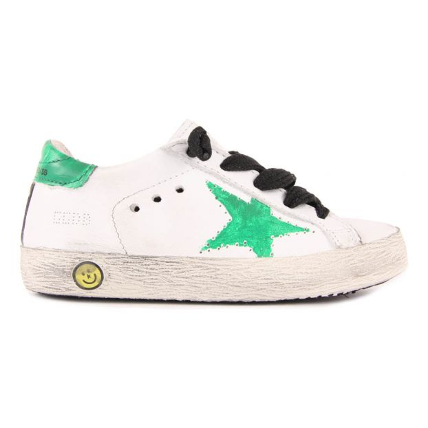 Superstar Green Star Leather Lace-Up