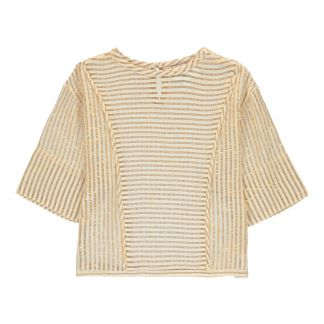 Polder Girl Bart Lurex Striped Blouse-listing b60df0304