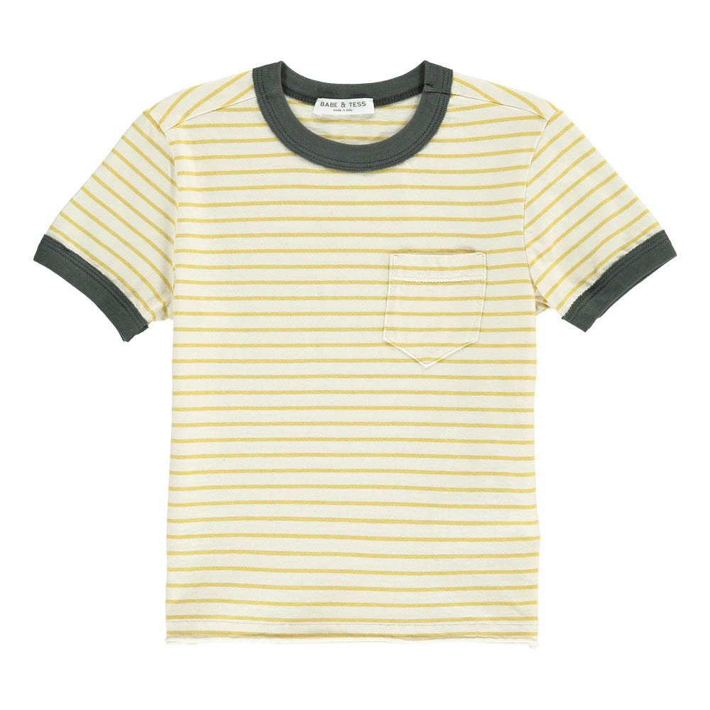 3855085a Striped T-Shirt Yellow Babe & Tess Fashion Children. «