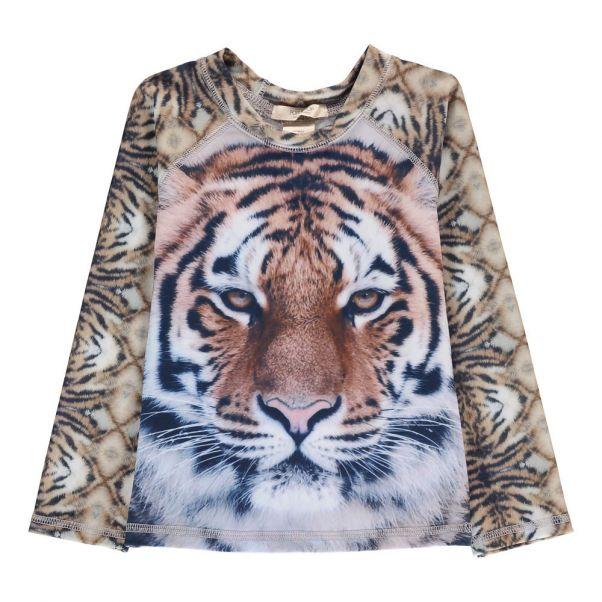 3f6c56762bf99 T-Shirt Anti UV Tigre Beige Popupshop Mode Bébé , Enfant