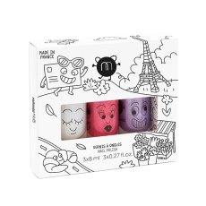 product-Nailmatic Kids Coffret 3 vernis City Super, Kitty, Piglou