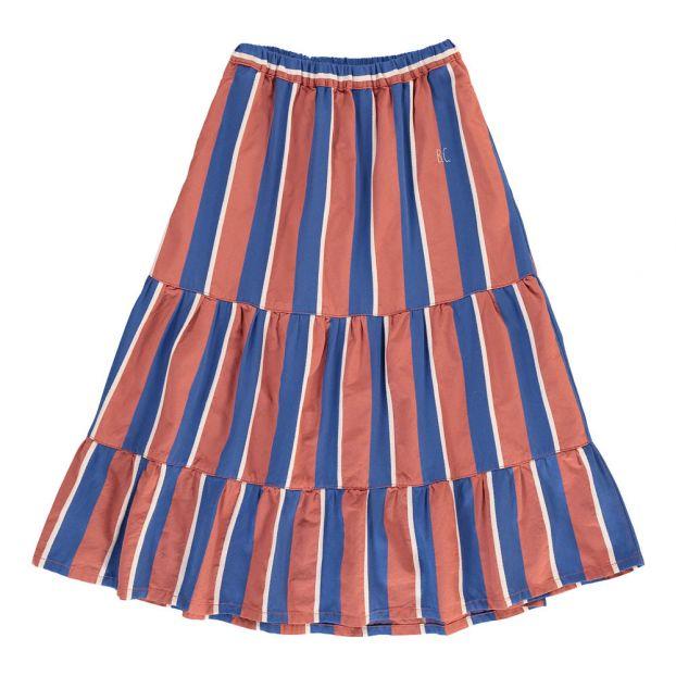 8699194e8a9 Jupe Longue Rayée Rouge brique Bobo Choses Mode Enfant