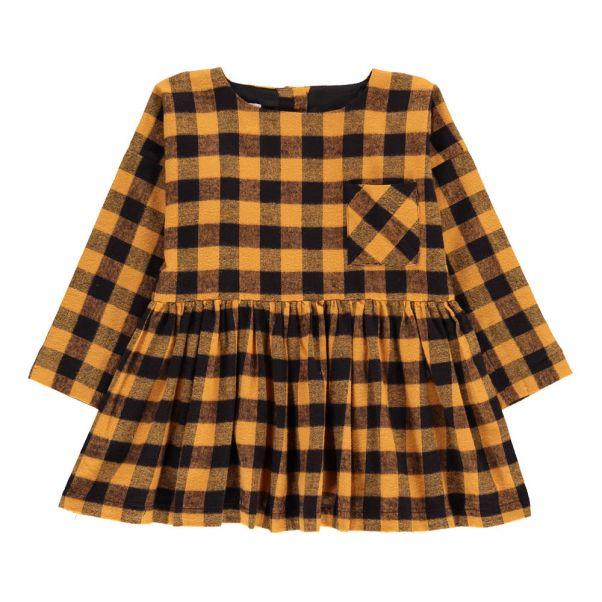 Robe Carreaux Flanelle Greta Jaune moutarde Morley Mode Enfant 9563ac98484e