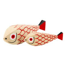 product-Vitra Décoration en bois Mother fish and child - Alexander Girard