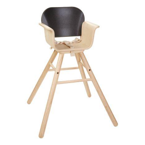 chaise haute volutive 6 mois 3 ans en bois d 39 h v a noir plan. Black Bedroom Furniture Sets. Home Design Ideas