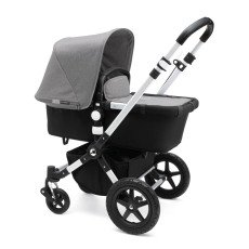 product-Bugaboo Complete CAMELEON³ Puchair With Aluminium Frame, Imitation Leather Handfuls & Black Base