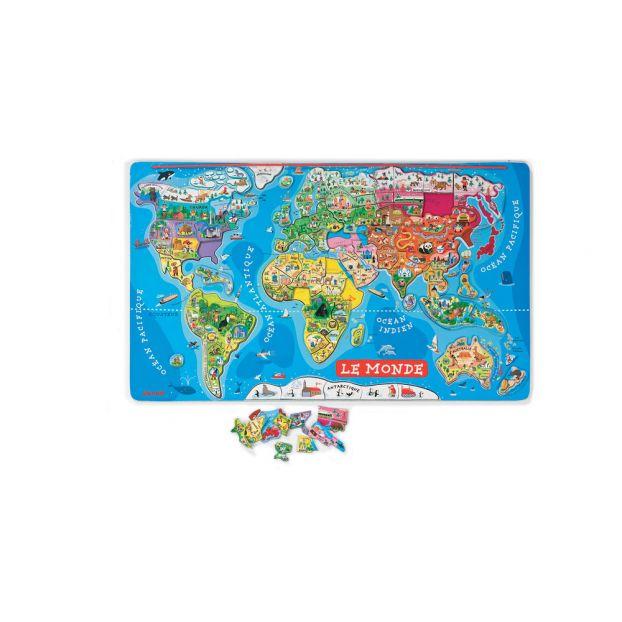 Carte Europe Janod.Puzzle Magnetique Monde Janod Jouet Et Loisir Enfant