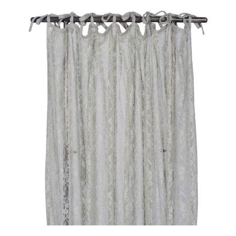 Feiner Vorhang mit Muster Silver Grey S019 Numero 74 Design Kind