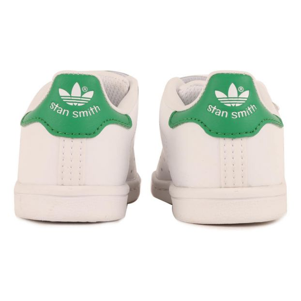 ae625a9017bd Two Strap Velcro Stan Smith Trainers Green Adidas Shoes Baby