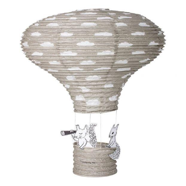 Paper Hot-Air Balloon Lamp Grey