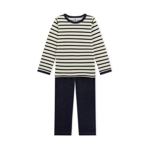 22e93155f Pijama Marinero Loto Gris Claro Petit Bateau Moda Infantil