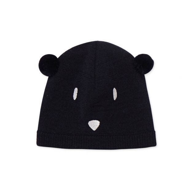 055c94fe24a Lesine Bear Ear Hat Navy blue Petit Bateau Fashion Baby