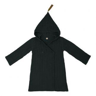 Adult Organic Cotton Dressing Gown Dark Grey S021 Numero 74
