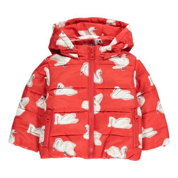 083050c94 Hubert Swan Hooded Down Jacket Red Stella McCartney Kids Fashion