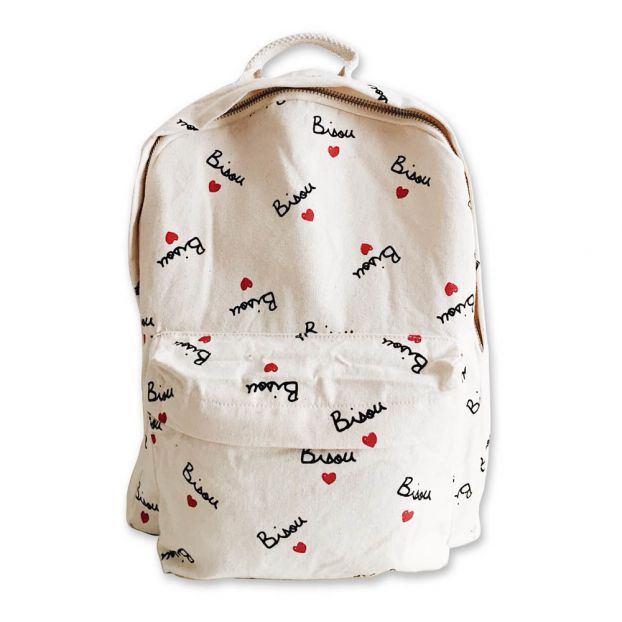 Bisou Backpack White Mathilde Cabanas Fashion Teen  9a5c42c9e01f9