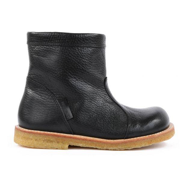 Fourrées Tex Noir Cuir Zippées Boots tshdorCBxQ