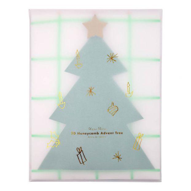 Adventskalender Weihnachtsbaum Grün Meri Meri Design Kind