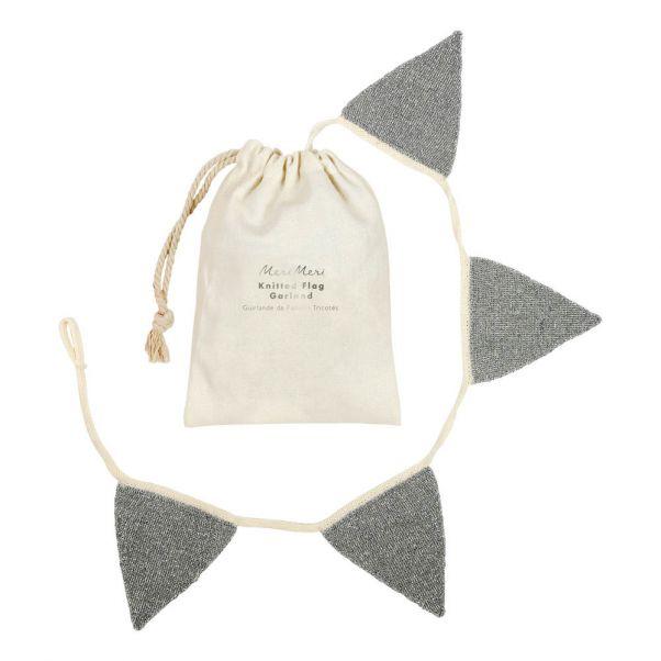 Knitted Bunting Silver Meri Meri Design Children