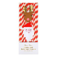 product-Meri Meri Christmas Paper Straws - Set of 24