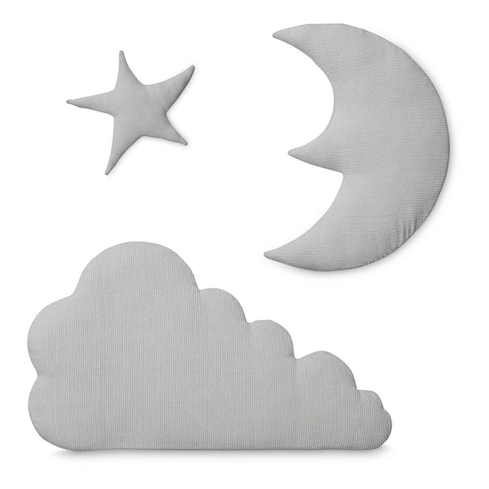 Wanddeko Stern, Mond Wolke Post