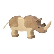 product-Holztiger Wooden Rhinoceros Figurine